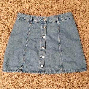 H&M Divided Denim Button Up Skirt